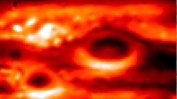 Инфракрасное изображение Большого красного пятна на Юпитере