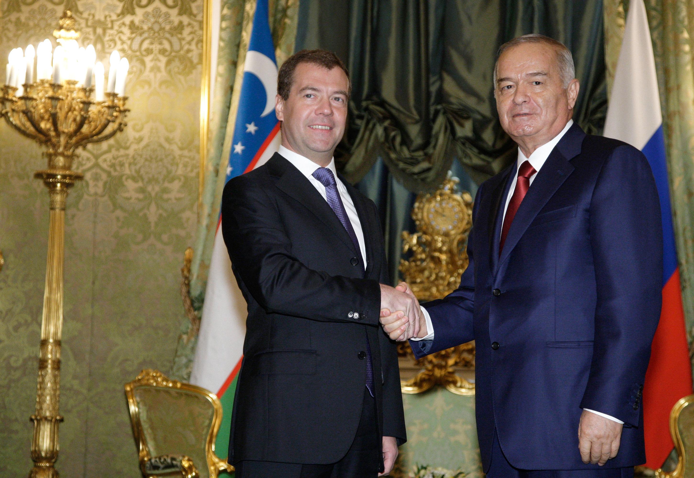 Встреча Дмитрия Медведева и Ислама Каримова в Кремле