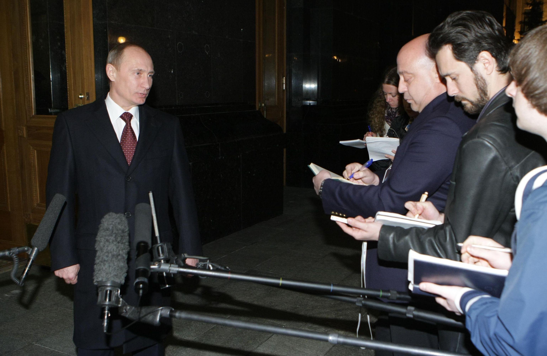 Премьер-министр РФ Владимир Путин в Киеве