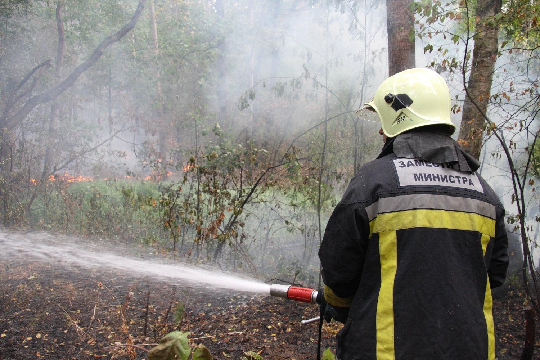 Тушение пожара в Павлово-Посадском районе Московской области