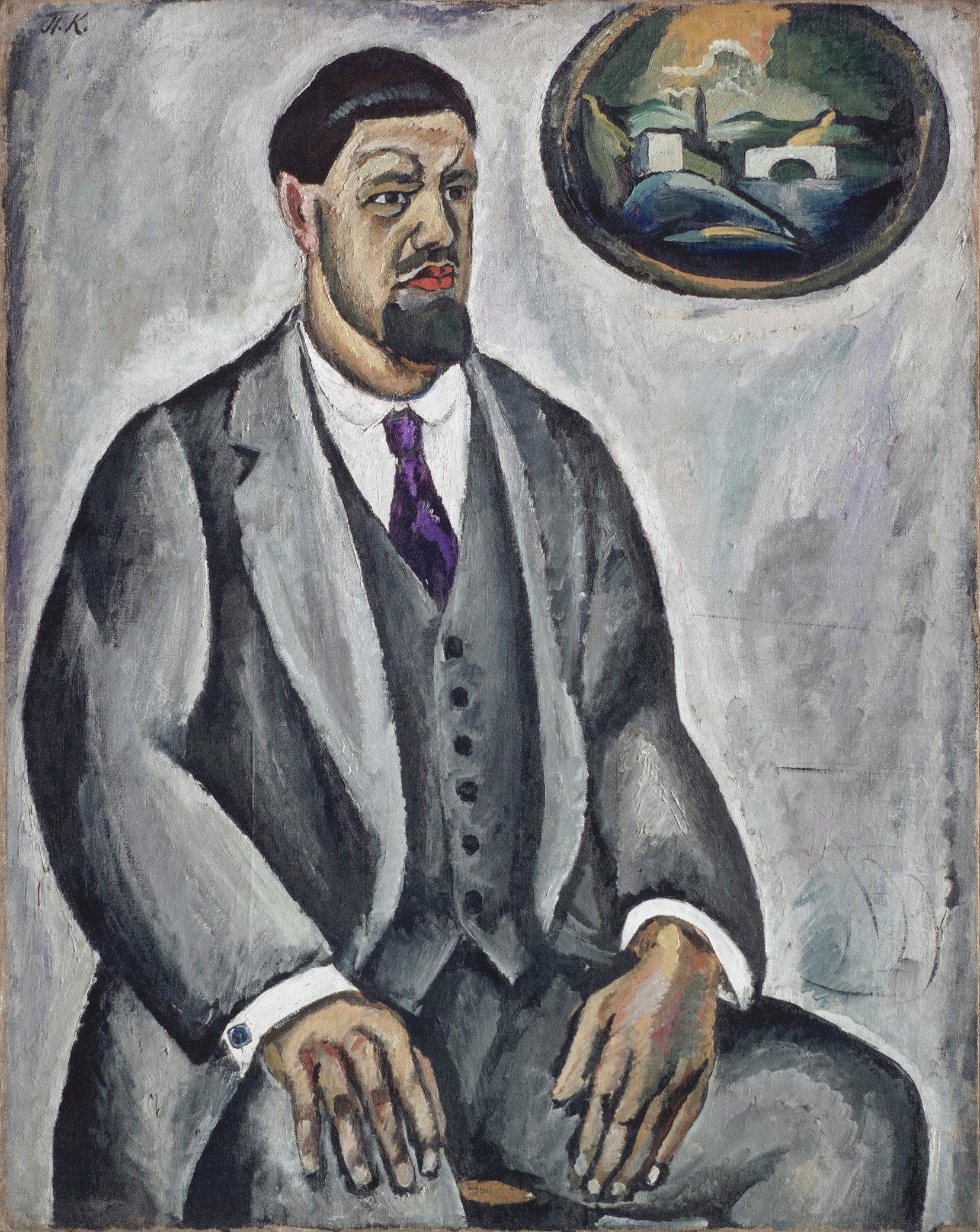 Петр Кончаловский. Автопортрет в сером, 1911
