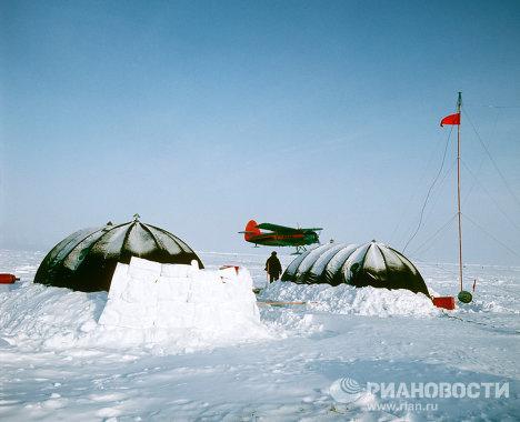 База заправки самолетов на Северном полюсе