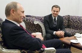 Владимир Путин и Леонардо Ди Каприо. Архивное фото