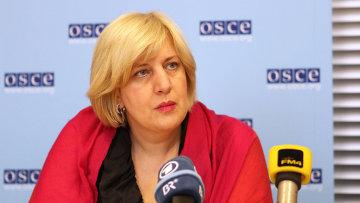 Представитель ОБСЕ по вопросам свободы СМИ Дунья Миятович, архивное фото