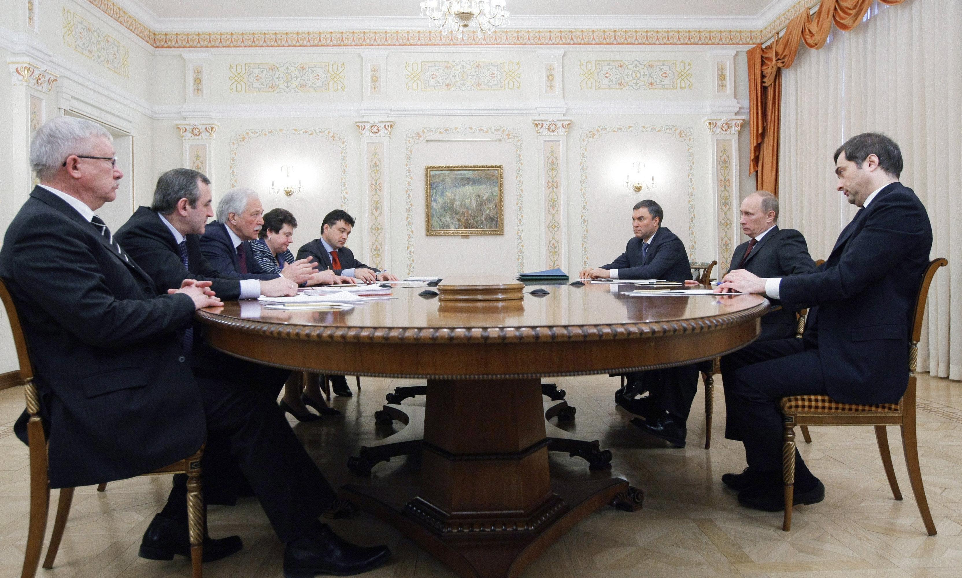 Премьер-министр РФ Владимир Путин встретился с руководством партии Единая Россия