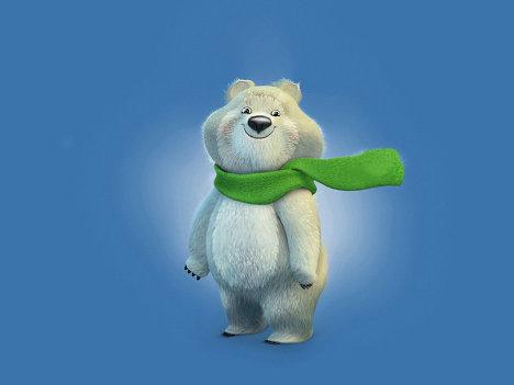Талисманы Олимпиады-2014 - Белый медведь