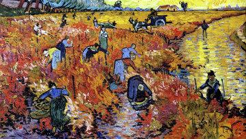 Картина Ван Гога Красные виноградники в Арле