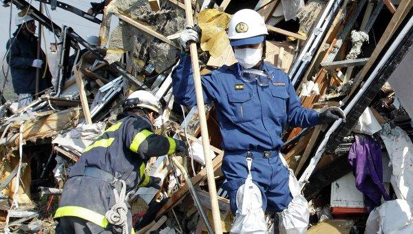 Поисково-спасательные работы в Японии
