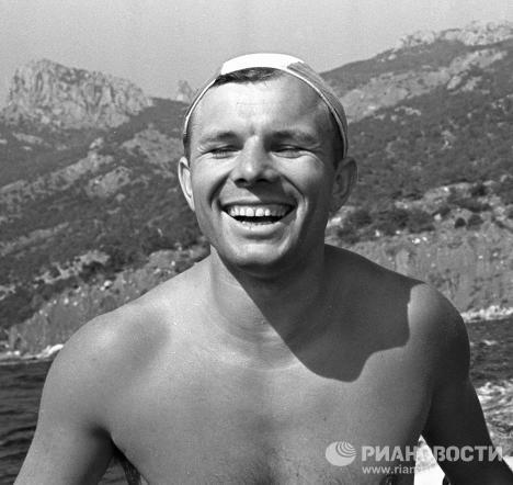 Юрий Гагарин во время послеполетного отдыха