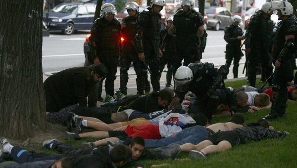 Сербская полиция пресекла попытки протеста против ареста Младича