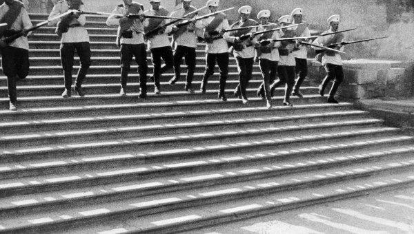 Сцена из фильма Броненосец Потемкин. Архивное фото
