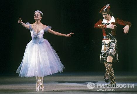 Ирина Колпакова и Сергей Бережной в балете Х. Левенскьолда Сильфида