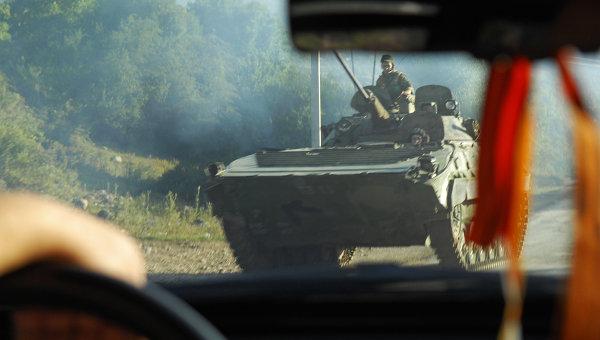 Цхинвал через год после военного конфликта с Грузией