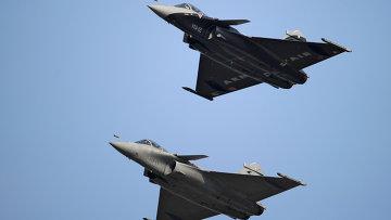 Французские многоцелевые истребители Dassault Rafale. Архивное фото.