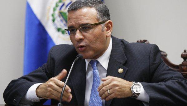 Президент Сальвадора Маурисио Фунес на пресс-конференции 26 августа 2011 года