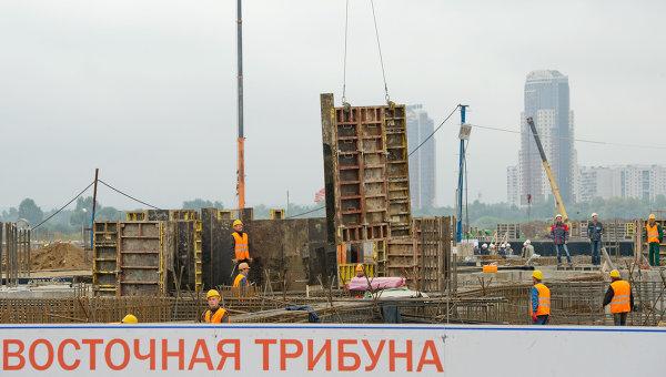 Строительство футбольного стадиона Спартак