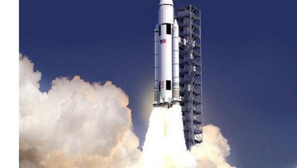 Ракета-носитель SLS на старте