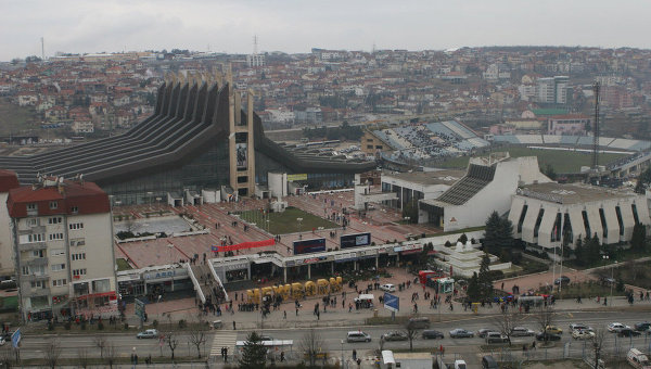 Столица Косово  - Приштина Архивное фото.
