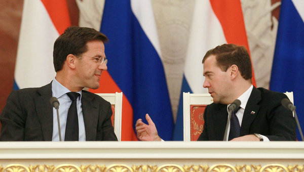 Переговоры Д.Медведева и М.Рютте в Кремле. Архивное фото