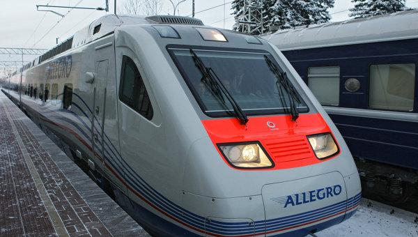 Поезд Аллегро Санкт-Петербург - Хельсинки. Архивное фото