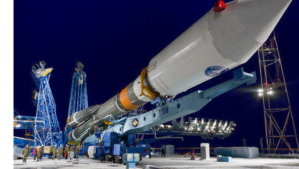 Ракета Союз с навигационным спутником Глонасс-М