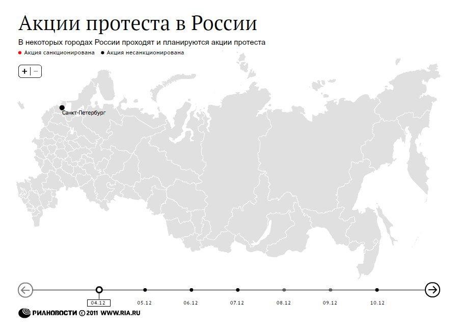 Акции в России, декабрь 2011 года