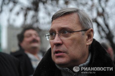 Михаил Касьянов на митинге За честные выборы на Болотной площади