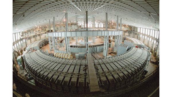 Синхрофазотрон в Институте ядерных исследований в Дубне, архивное фото
