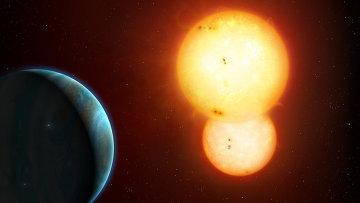 Планета с двумя Солнцами глазами художника