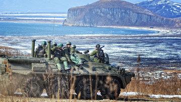 Учения морской пехоты ТОФ в Приморье. Архивное фото