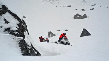 Снежная лавина, архивное фото