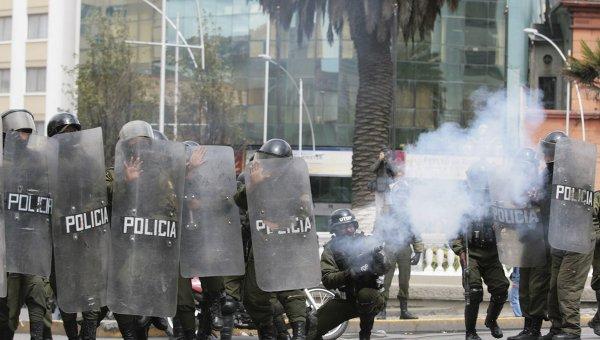 Беспорядки в столице Боливии Ла-Пасе
