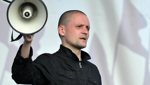 Сергей Удальцов во время митинга Марш миллионов  в Москве