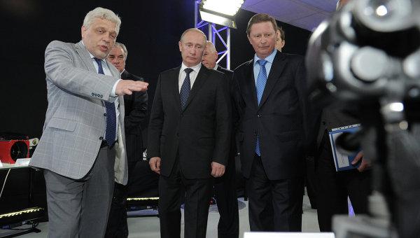 Президент РФ В.Путин посетил ОАО ЦНИИ Циклон
