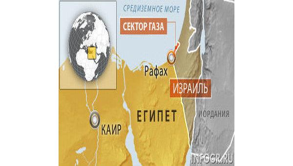 Карта пограничной территории Египта и Израиля