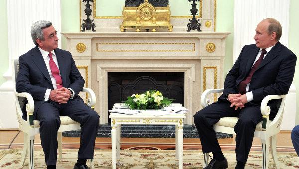 Переговоры В.Путина и С.Саргсяна. Архив