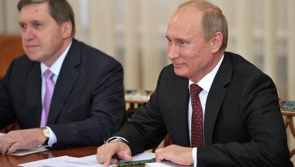 Встреча В.Путина с руководителями профсоюзных центров экономик