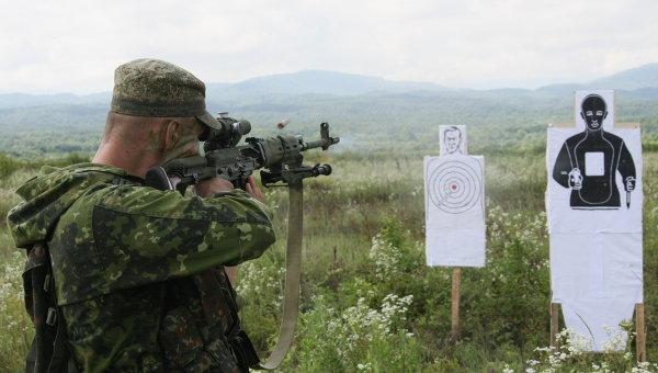 Учебно-методические занятия мотострелковой бригады в Чечне