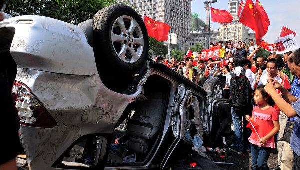 Акция протеста в городе Сиань провинции Шэньси