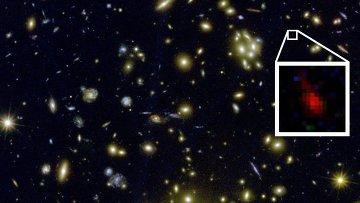 Самая древняя на сегодняшний день галактика MACS 1149-JD, расположенная в созвездии Льва