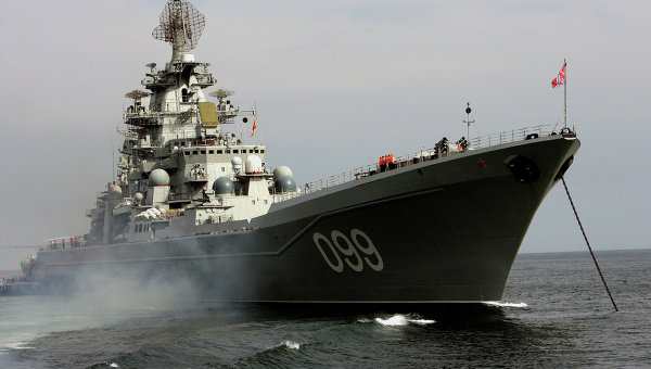 Тяжелый атомный ракетный крейсер Северного флота Петр Великий. Архивное фото
