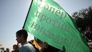 Акция солидарности против добычи никеля в Воронежской области. Архив