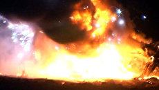 Силовики взорвали машину боевиков, в которой лежали оружие и боеприпасы
