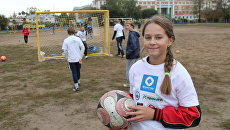 Вологжанка сыграла в футбол наравне с мальчишками