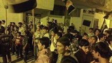 Демонстрации в пригороде Дамаска