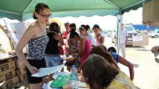 Волонтеры ведут прием заявок от населения на гуманитарную помощь