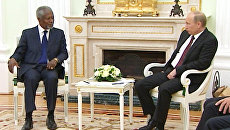 Путин выразил сожаление, что поводом для визита Аннана стали события в Сирии