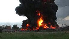 Пожар в нефтехранилище Ангарска. Съемки очевидца