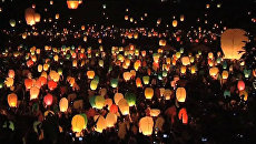 Тысячи небесных фонариков запустили поляки в погоне за мировым рекордом