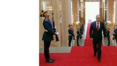 Владимир Путин прибыл в Большой Кремлевский дворец